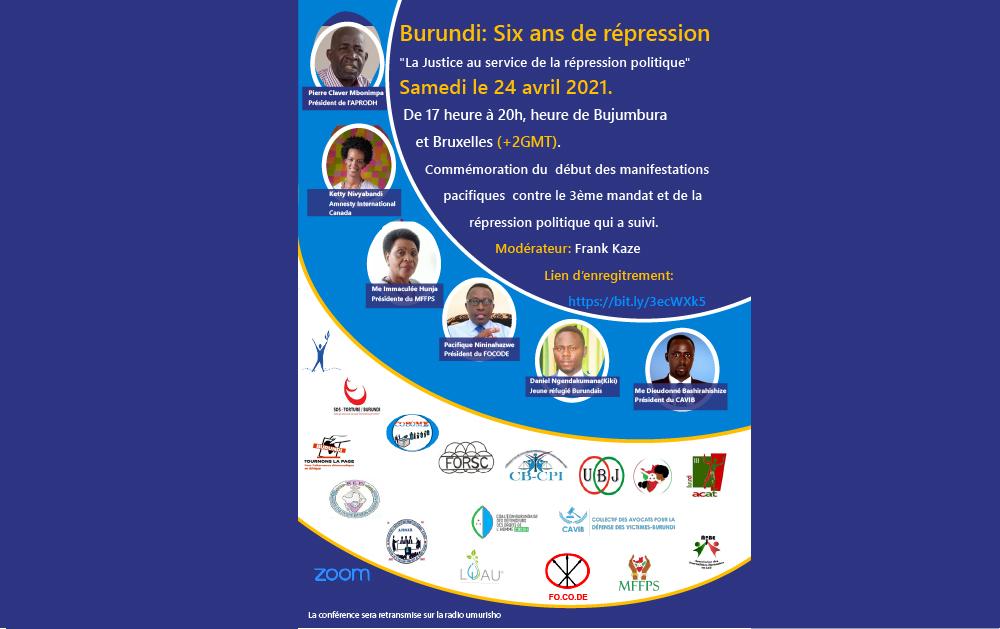 Burundi, Conférance