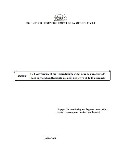 Burundi,Rapport